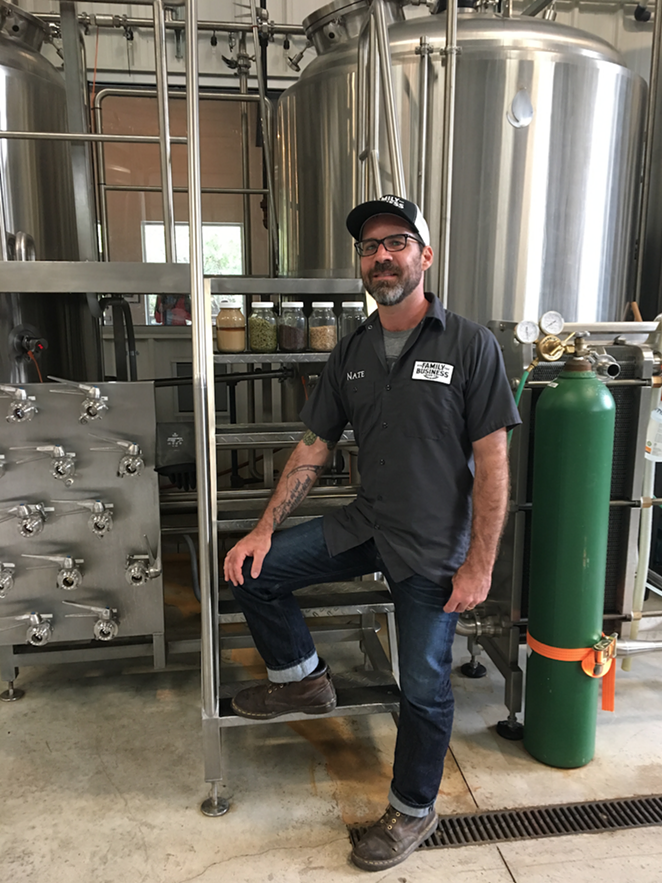 Nate Seale of Family Business Brewery - RON BECHTOL
