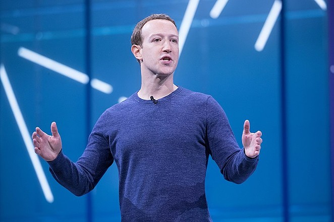 Facebook CEO Mark Zuckerberg speaks at the company's 2018 developer conference. - ANTHONY QUINTANO