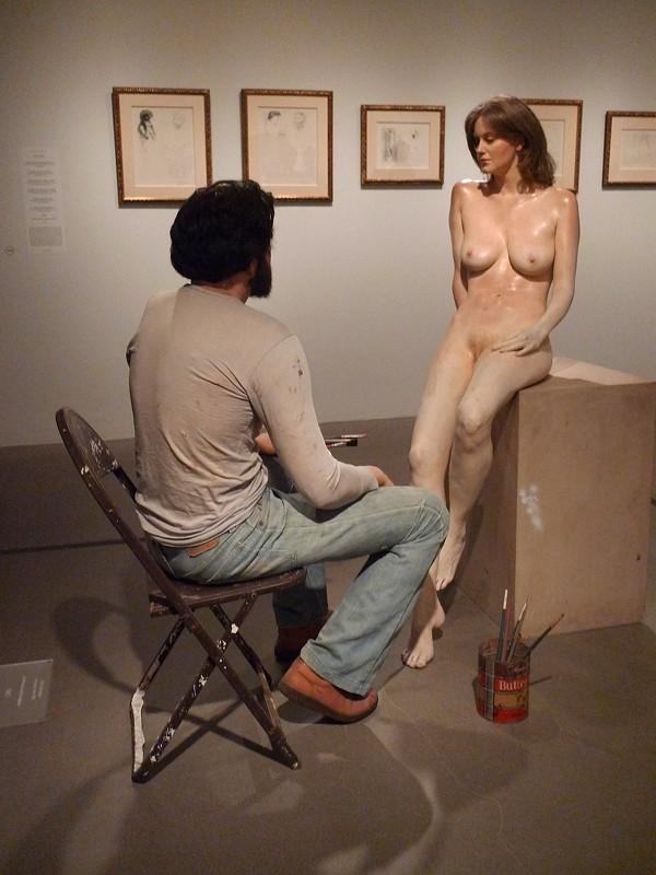 """""""Self Portrait with Sculpture"""" - RUBEN C. CORDOVA"""