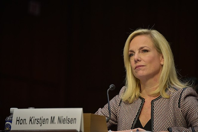 DHS Secretary Kirstjen Nielsen says asylum seekers will be required to remain in Mexico while U.S. immigration courts process their claims. - DEPARTMENT OF HOMELAND SECURITY