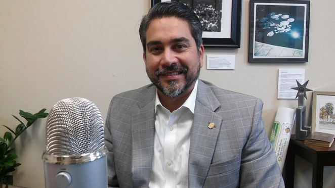 San Antonio Councilman Roberto Trevino is calling for the city to purchase a mobile shower facility. - MICHAEL MARKS