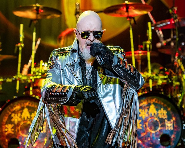 Rob Halford performs with Judas Priest, one of the metal heavyweights who's early success came in San Antonio. - MARIA IVES (VIA JUDAS PRIEST'S TWITTER)
