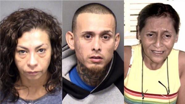 (L-R) Angie Torres; Christopher Davila; Beatrice Sampayo - BEXAR COUNTY JAIL