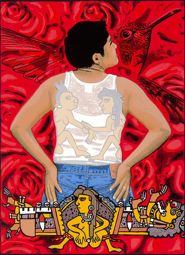 ALMA LÓPEZ, CHUPAROSA, 2002. SCREENPRINT. COLLECTION OF THE MCNAY ART MUSEUM, GIFT OF HARRIETT AND RICARDO ROMO.