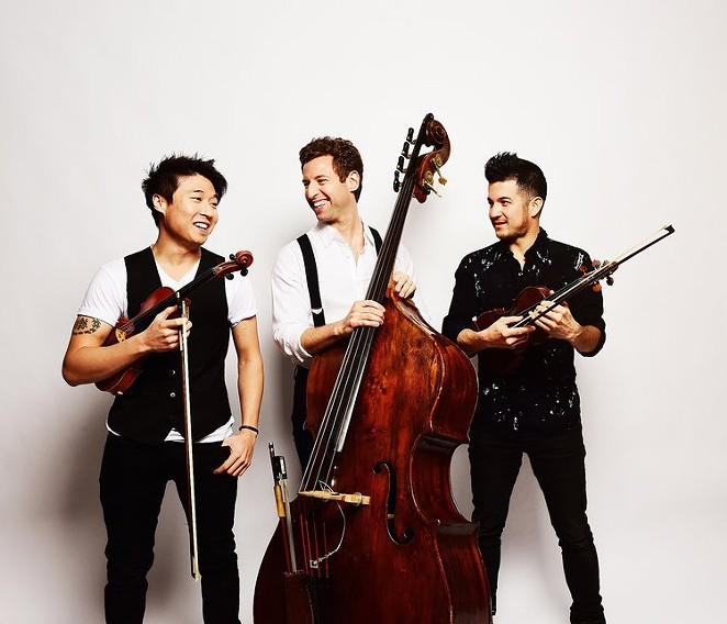 From Left: Charles Yang, Ranaan Meyer and Nicolas Kendall of Time for Three - COURTESY OF TIME FOR THREE