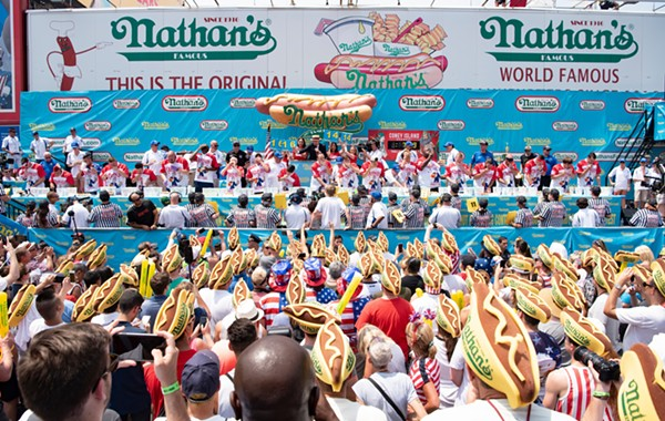 A view from the  Nathan's Famous hot-dog eating contest held on July 4, 2018. - NATHAN'S FAMOUS