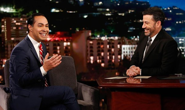 Julián Castro and Jimmy Kimmel cut up on Tuesday night. - TWITTER / JULIANCASTRO