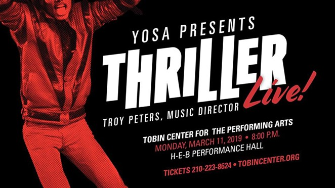YOSA Presents: Thriller LIVE! Flyer - TROY PETERS