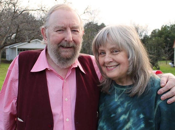 Michael Moorcock with his wife, Linda. - COURTESY OF MICHAEL MOORCOCK