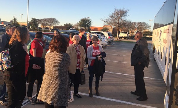 Members of Moms Demand Action board a bus in San Antonio to meet with state lawmakers. - COURTESY PHOTO