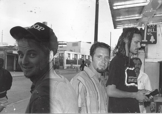 Cherubs at a taco stand in the early '90s - FACEBOOK, CHERUBS FAN PAGE,  GABE SORIA