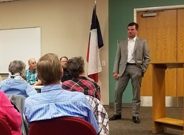 Sen. Brandon Creighton meets with constituents. - TWITTER / SENCREIGHTON