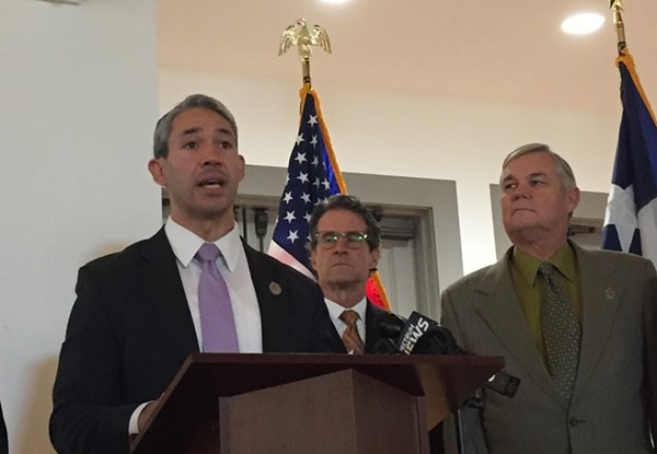 Ron Nirenberg addresses the press at a recent event. - SANFORD NOWLIN