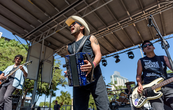 Piñata Protest performing at Taco Fest 2018. - JAIME MONZON