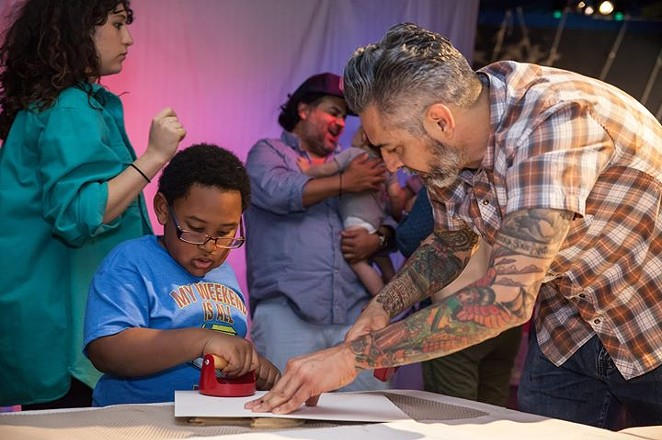 "The DoSeum's inaugural Artist-in-Residence, Richard Armendariz, leads activities in conjunction with his 2017 exhibition ""Dream Keeper."" - COURTESY OF THE DOSEUM"