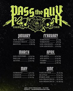 PASS THE AUX TOUR DATES/ILLMINDPRODUCER.COM