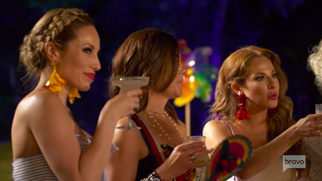 Members of the Texicans cast tip back Margaritas and look fab. - BRAVO.COM