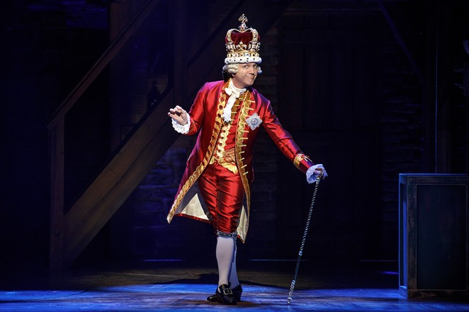 Jon Patrick Walker in the national tour of Hamilton - JOAN MARCUS