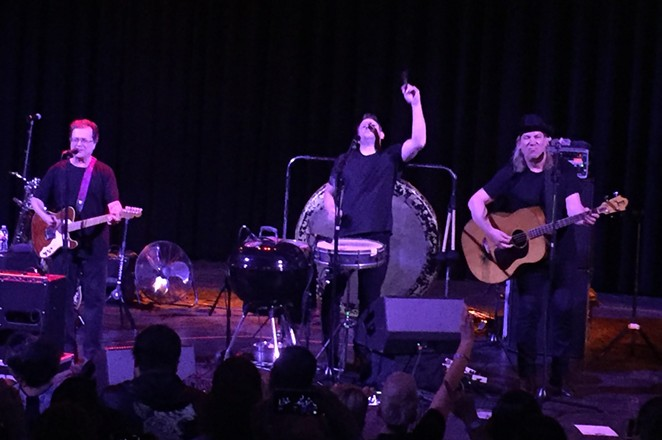 Violent Femmes add it up onstage at the Aztec Theatre. - SANFORD NOWLIN