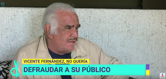 Fernández said he didn't want the liver because he didn't know where it came from, fearing he would receive the organ from a gay person or drug addict. - YOUTUBE / IMAGEN ENTRETENIMIENTO