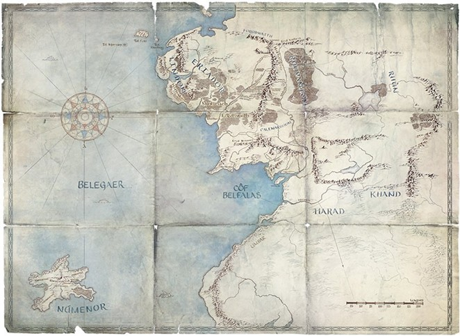 A map of Middle Earth in the Second Age - PHOTO BY AMAZON PRIME VIA TWITTER / LOTRONPRIME