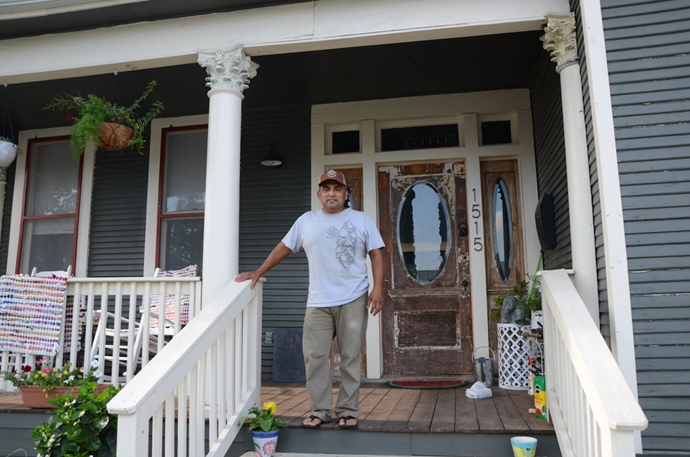 West Side homeowner Chris Benavidez sees new investiment as beneficial. - BRYAN RINDFUSS