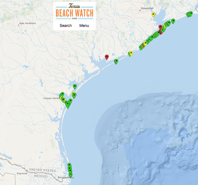Here's how shitty the coast is looking as of Friday. - TEXAS GENERAL LAND OFFICE