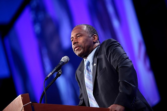 Ben Carson's Department of Housing and Urban Development proposed a rule that would allow homeless shelters to deny beds to trans people. - GAGE SKIDMORE / WIKIMEDIA COMMONS