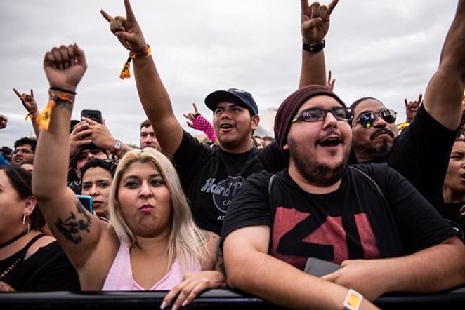 Fans rock out at River City Rockfest 2018. - JAIME MONZON