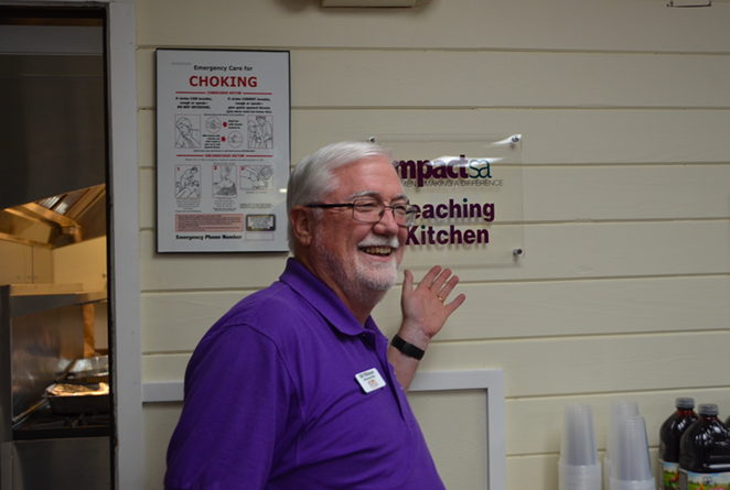 RMYA CEO Bill Wilkinson unveils the new kitchen during the Tuesday Grand Opening. - LEA THOMPSON