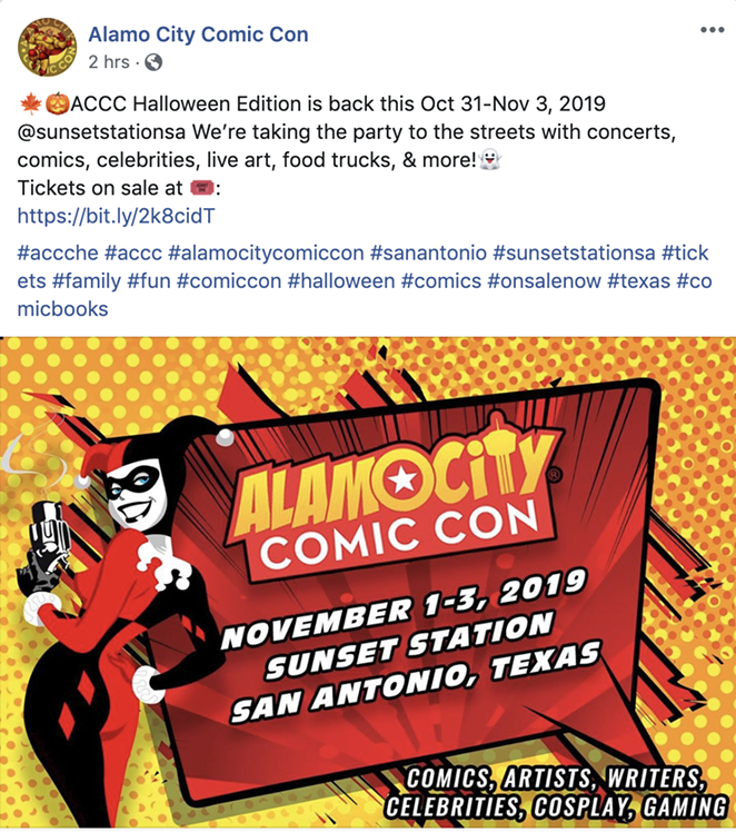 ALAMO CITY COMIC CON / FACEBOOK