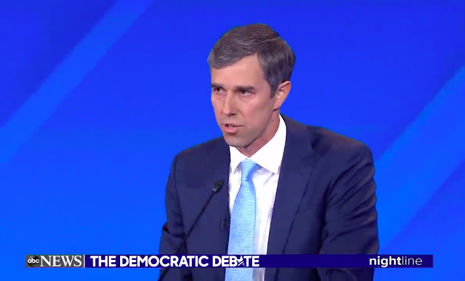 Beto O'Rourke discusses the shooting in his hometown of El Paso. - YOUTUBE /@ABCNEWS