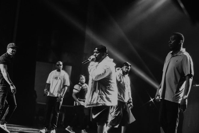 Wu-Tang wrecking it at the Majestic Theatre on Saturday night. - OSCAR MORENO