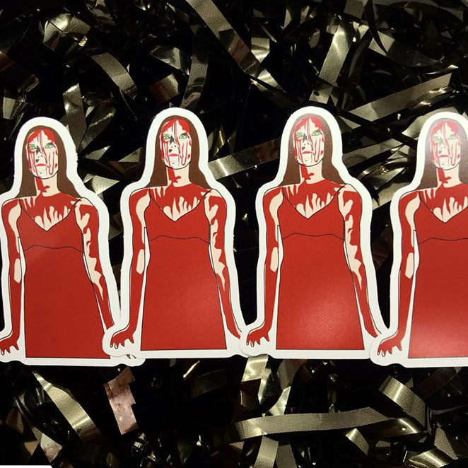 Carrie stickers by Space Holiday - INSTAGRAM / SPACE.HOLIDAY