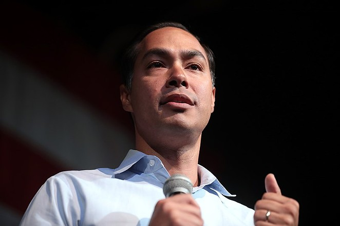 Julian Castro addresses a crowd at a campaign stop. - GAGE SKIDMORE / WIKIMEDIA COMMONS