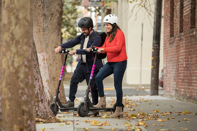 Lyft Scooters is exiting six U.S. markets, including San Antonio. - COURTESY OF LYFT