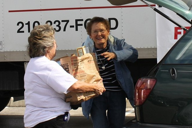 A local resident picks up groceries from the San Antonio Food Bank. Experts worry Texas food banks will be unable to make up for SNAP cuts proposed by the Trump administration. - COURTESY OF THE SAN ANTONIO FOOD BANK
