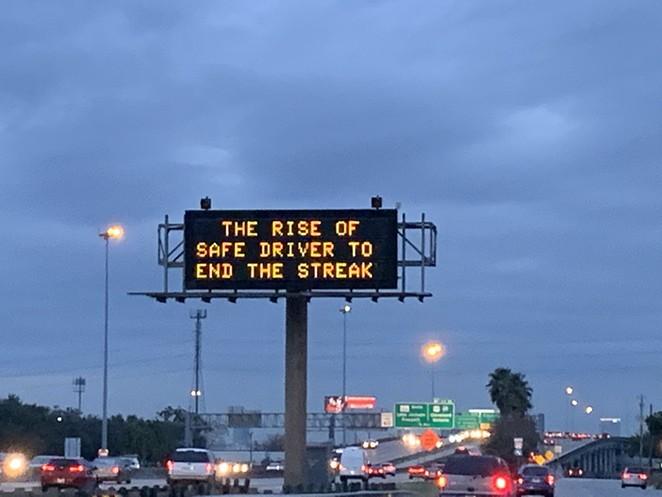 The Star Wars message as seen in Houston - TWITTER / JOSEPH_DUARTE