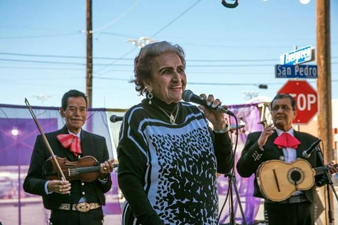 Legendary Tejana Singer Rita Vidaurri Performing in the heart of San Antonio - FACEBOOK, LAS TESOROS DE SAN ANTONIO