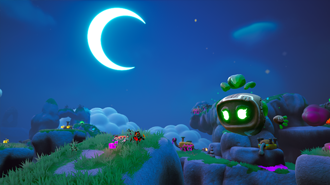 A screenshot from Floppy and the Sleepy Planet - BROAD STROKES