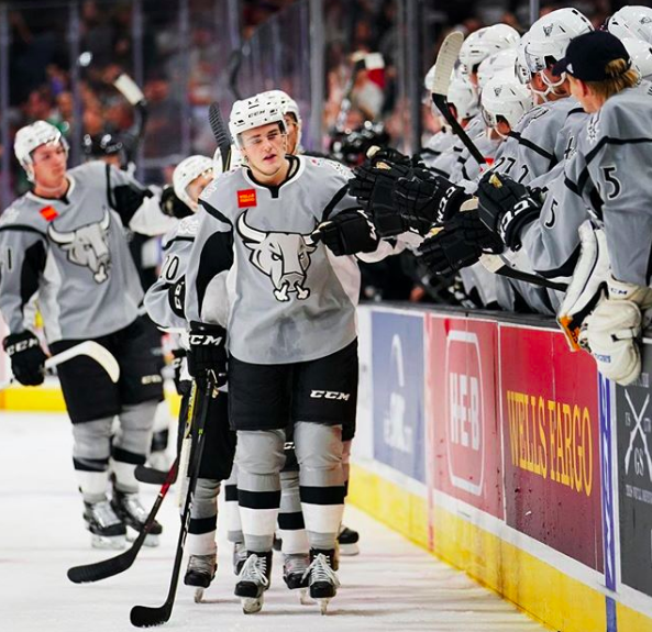 SA Rampage players head out to the ice. - PHOTO VIA INSTAGRAM / SARAMPAGE