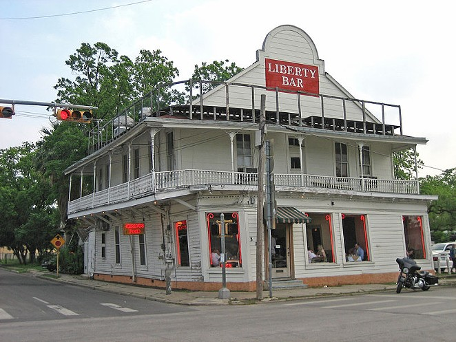 Boeher's House once housed the Liberty Bar. Lately, it's been sitting on stilts, unused. - WIKIPEDIA