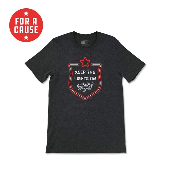 Proceeds for the sale of the t-shirt will go directly to The Southern Smoke Emergency Relief Fund to support folks working in the Texas food and beverage industry. - TEXAS HUMOR