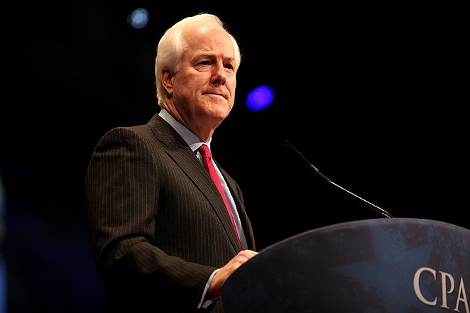 Texas voters are almost evenly split whether Sen. John Cornyn is doing a good job or a bad one. - GAGE SKIDMORE