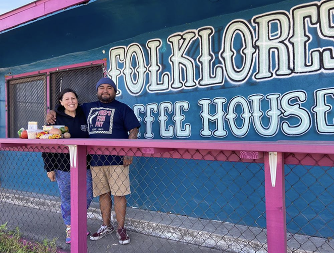 Owners Tatu and Emilie Herrera have been providing the elderly with food since the shutdown of their Eastside shop. - INSTAGRAM / FOLKLORES_COFFEE_HOUSE