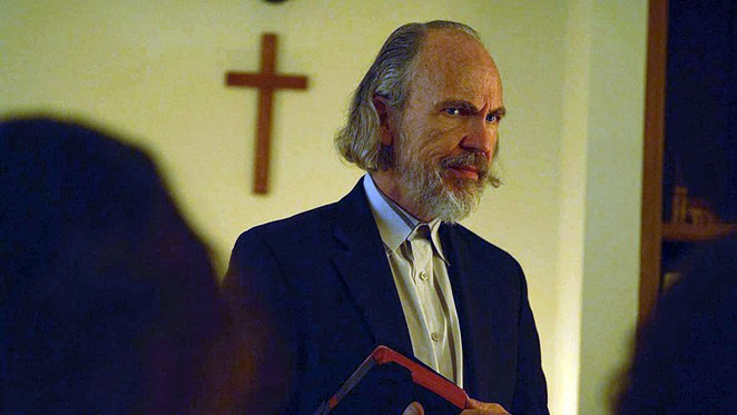 Actor Les Best stars as the leader of a religious cult in Nothing But the Blood. - GRAVITAS VENTURES