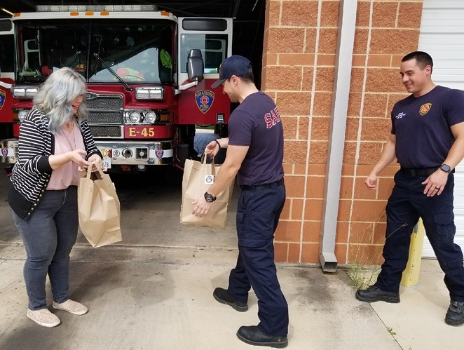 Hop & Vine delivered lunches to San Antonio Fire Station 45 - COURTESY / THE SHOPS AT ALAMO RANCH