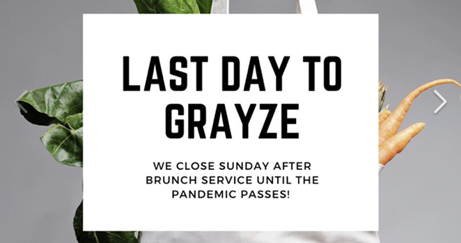 Grayze on Grayson has been listed on LoopNet as a retail space for lease. - INSTAGRAM / GRAYZEONGRAYSON
