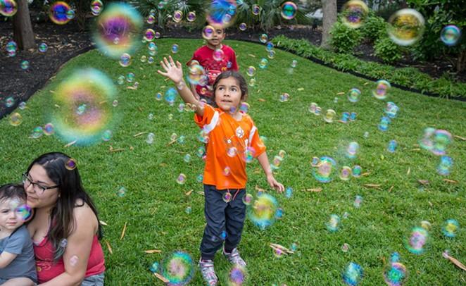 Participants at Ruby City's 2019 Bubble Fest - RUBY CITY