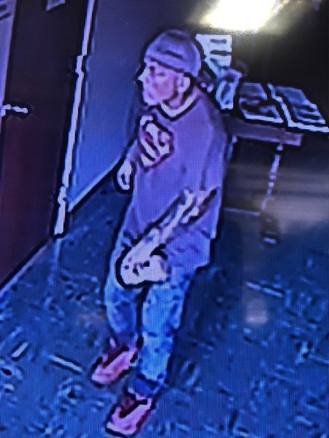 An image of the alleged thief, taken from surveillance footage. - FACEBOOK / ST. PAUL CATHOLIC CHURCH